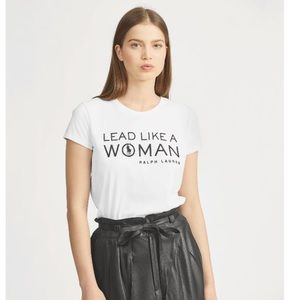 Polo Ralph Lauren lead like a woman t-shirt